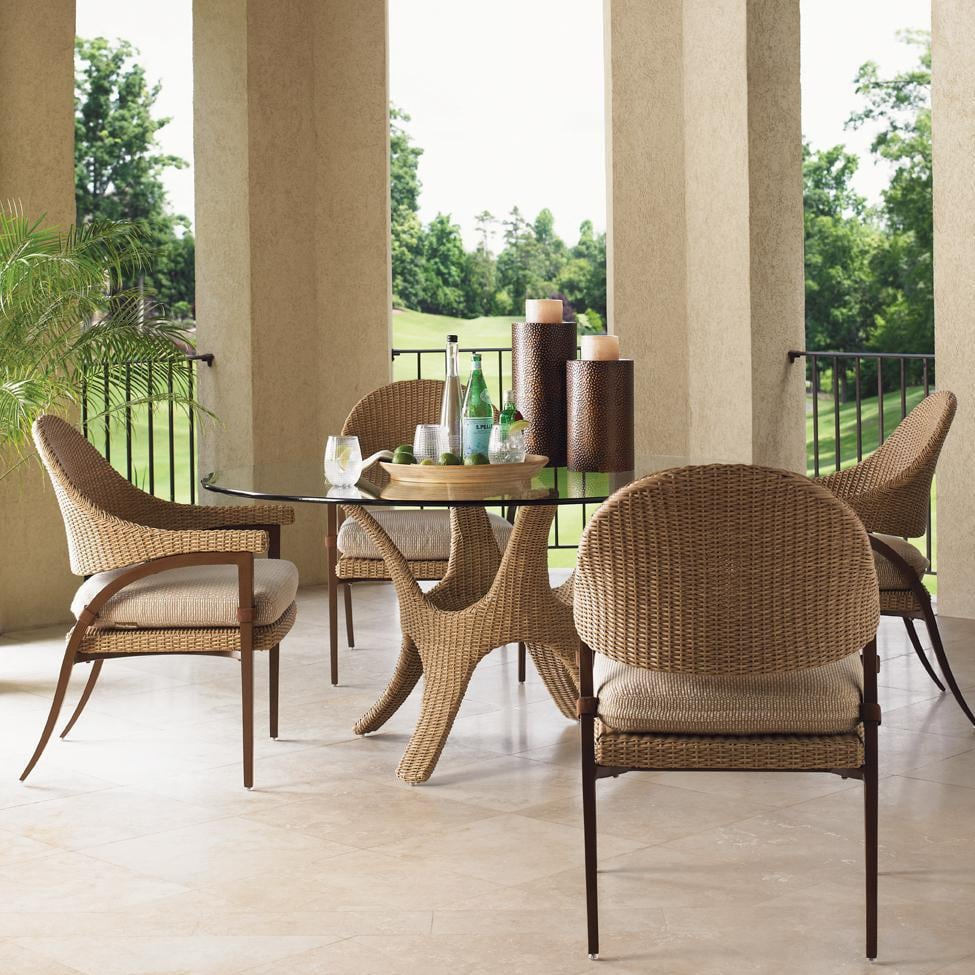 Tommy Bahama Aviano 4 Person Wicker Patio Dining Set