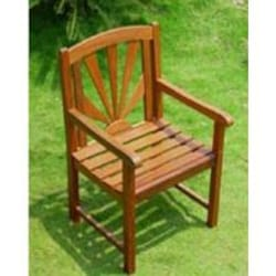 International Caravan Sapporo Wood Patio Dining Chair - Set Of 2 image