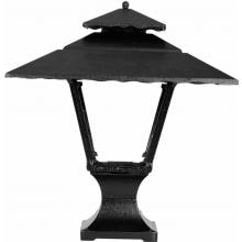 American Gas Lamp Works GL1800 Cast Aluminum Manual Ignition Natural Gas Light With Open Flame Burner And Pedestal Mount image