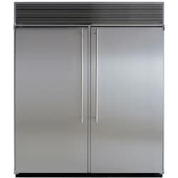 Marvel 72-inch Built-In Side By Side Refrigerator - Stainless Steel - M72CSS-WS