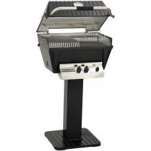 Broilmaster P4-XFN Premium Natural Gas Grill On Black Patio Post Broilmaster P4-XFN Premium Gas Grill On Black Patio Post