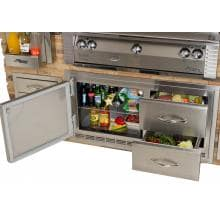 Alfresco 42-Inch 9.0 Cu. Ft. Outdoor Rated Refrigerated Cabinet - ARFG-42FB Alfresco 42-Inch Refrigerator With Door And Drawers Built-In