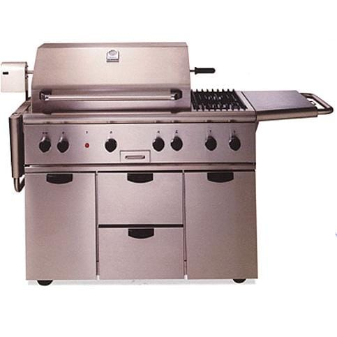 Thermador 48 Inch Freestanding Gas Grill W Side Burner