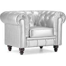 Zuo Modern Aristocrat Armchair Silver Leatherette 900102