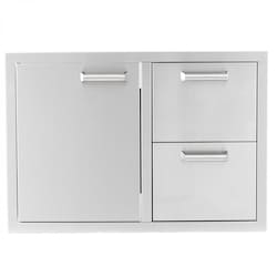BBQGuys.com Sonoma Series 30-Inch Stainless Steel Access Door & Double Drawer Combo