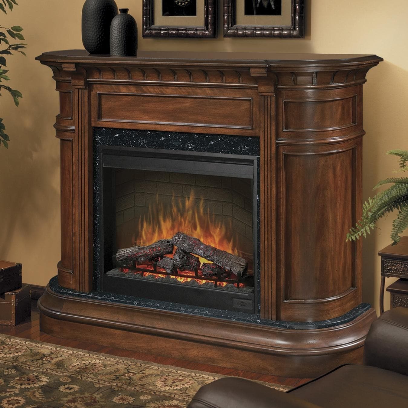 Dimplex Carlyle 62 Inch Electric Fireplace With Purifire Burnished Walnut Sop 475 Bw