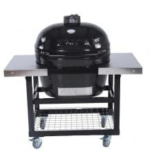 Primo Ceramic Smoker Grill On Cart With Side Tables - Oval XL