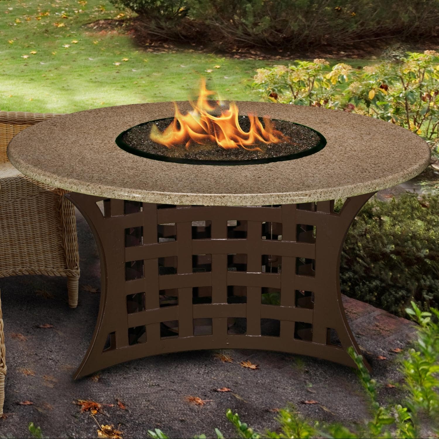 La Costa 42 Inch Propane Fire Pit Table By California Outdoor Concepts