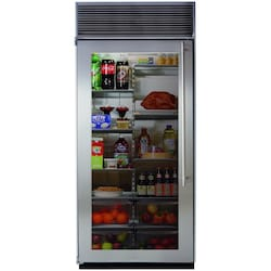 Marvel 36-inch Built-In Left Hinge All Refrigerator - Stainless Steel - M36AR-SGX-L