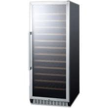 Summit 102 Bottle Freestanding Wine Cellar / Cooler - Stainless Steel / Black Cabinet - SWC1102