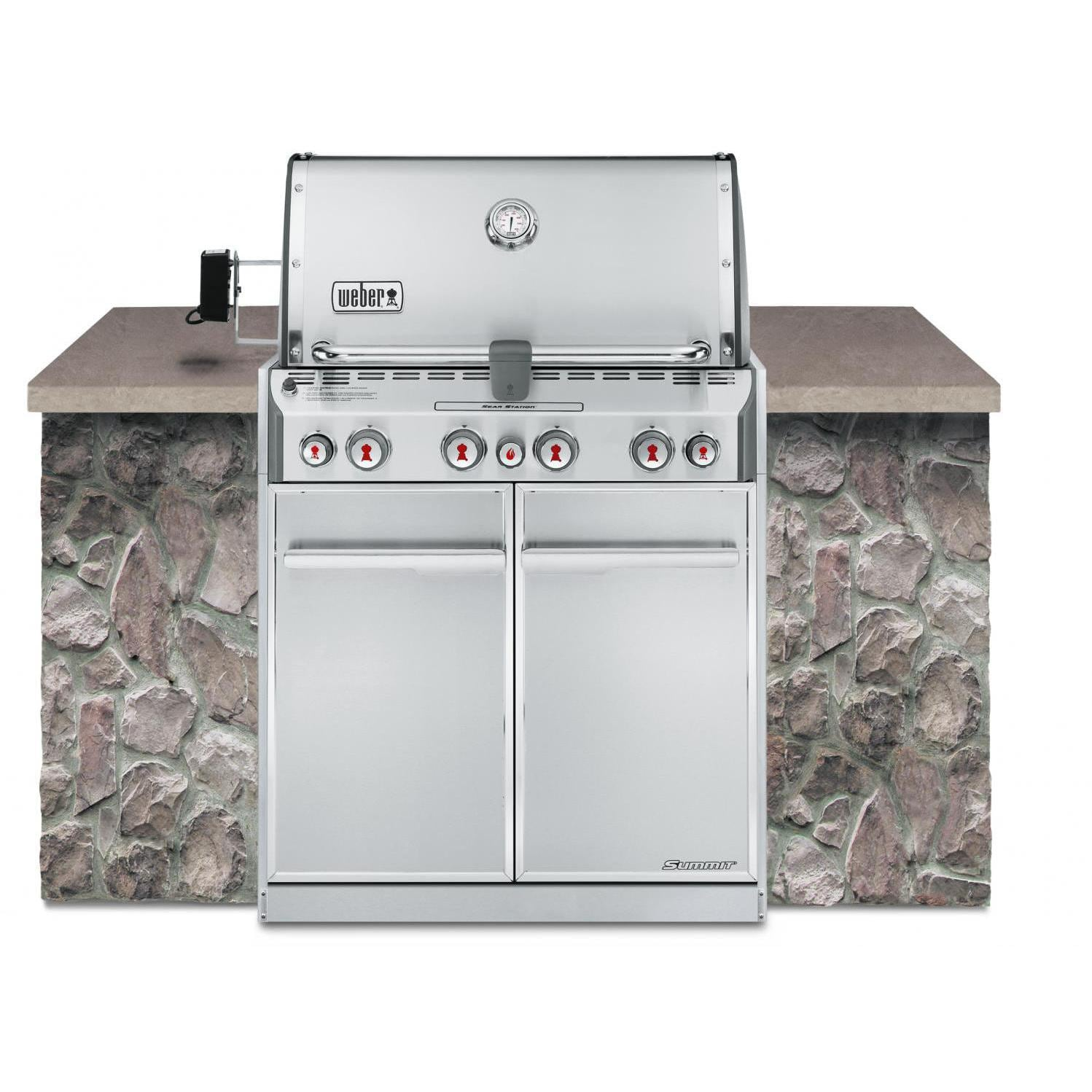 Weber Summit S 460 Built In Natural Gas Grill With Rotisserie U0026 Sear Burner  : BBQ Guys Part 78