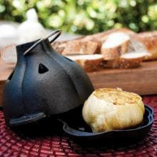Cast Iron Garlic Roaster And Squeezer Set