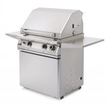 PGS T-Series Commercial 30-Inch Freestanding Natural Gas Grill On Pedestal With Timer - S27TNG PGS T-Series Commercial 30-Inch Freestanding Propane Gas Grill - Angled View