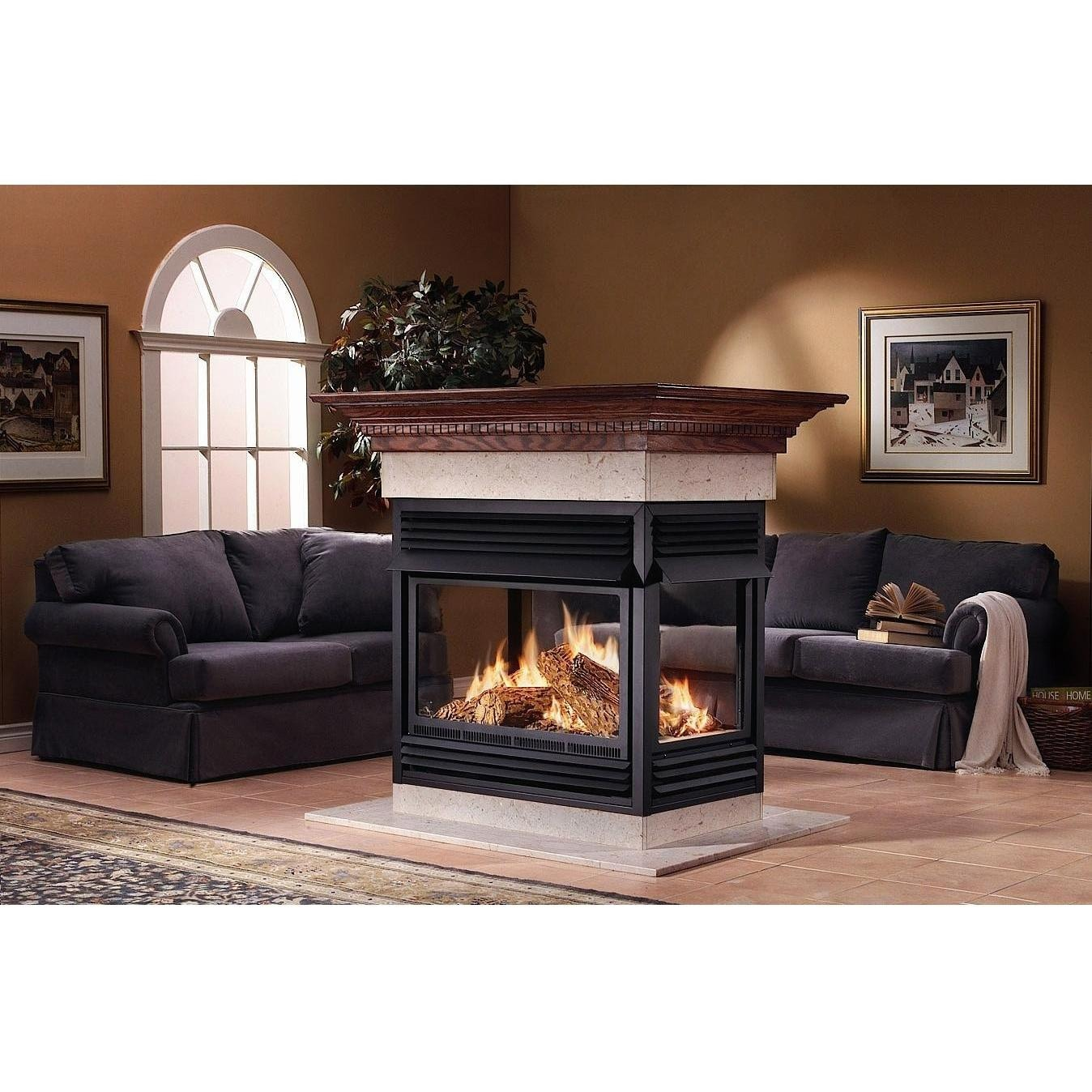 napoleon gvf40 vent free natural gas island fireplace gas log guys