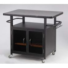 Outdoor GreatRoom Company 36 Inch Bistro Cabinet With Granite Top And Glass Doors