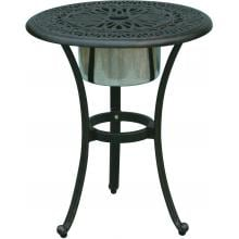 Darlee Elisabeth Cast Aluminum Patio End Table With Ice Bucket Insert image