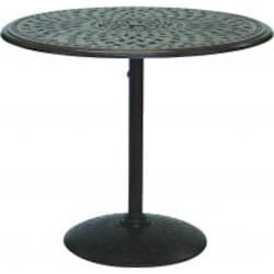 Darlee Series 60 42 Inch Cast Aluminum Counter Height Pedestal Patio Bar Table - Mocha image