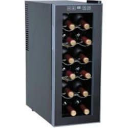 Sunpentown 12 Bottle Thermoelectric Freestanding Wine Cooler - Glass Door / Platinum Trim - WC-1271 image