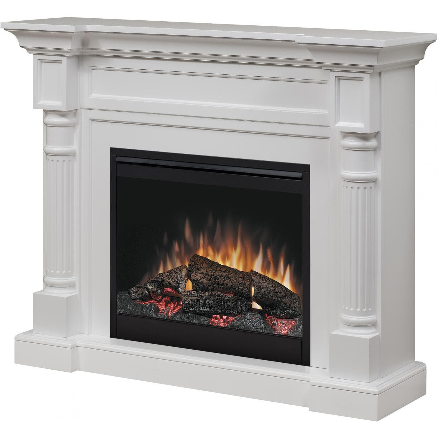 Dimplex Winston 52-Inch Electric Fireplace - Standard Logs - White ...