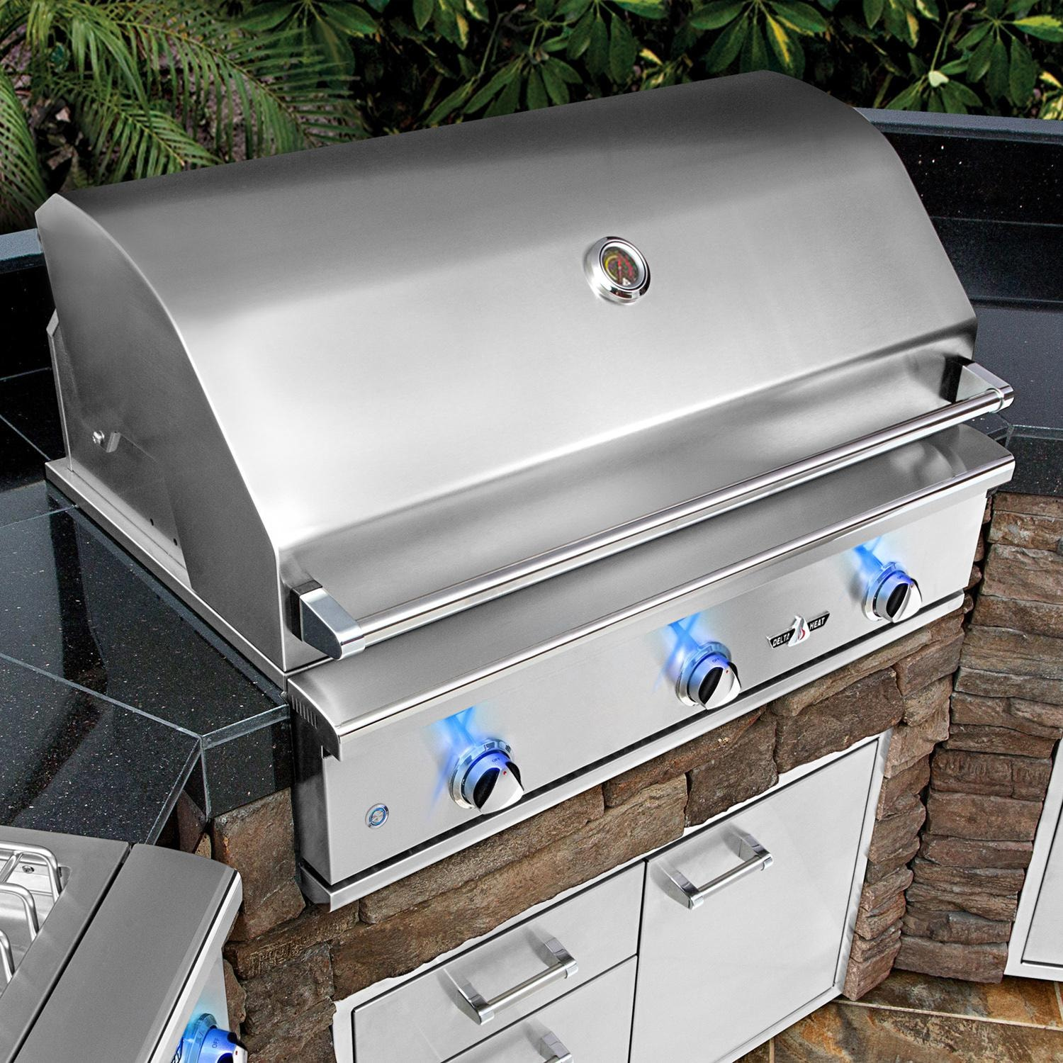 Delta Heat 32 Inch 3 Burner Built In Natural Gas Grill Dhbq32g Dn