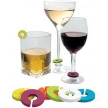 Vinotemp EP-CHARMS1 Epicureanist Multicolor Wine Glass Charms image
