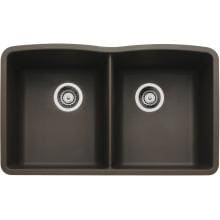 Blanco Diamond 32 X 19 Equal Double Bowl Silgranit II Undermount Sink - Cafe Brown - 440182 image