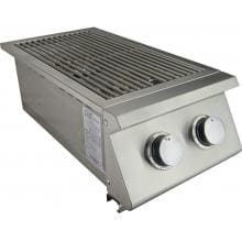 RCS RJCSSB Premier Series Built-In Natural Gas Stainless Steel Double Side Burner