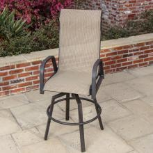 Madison Bay Sling Patio Bar Stool By Lakeview Outdoor Designs Madison Bay Sling Patio Bar Stool - Lifestyle View