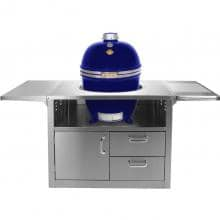 Grill Dome Infinity Series Large Kamado Grill On Stainless Steel Cart - Blue image