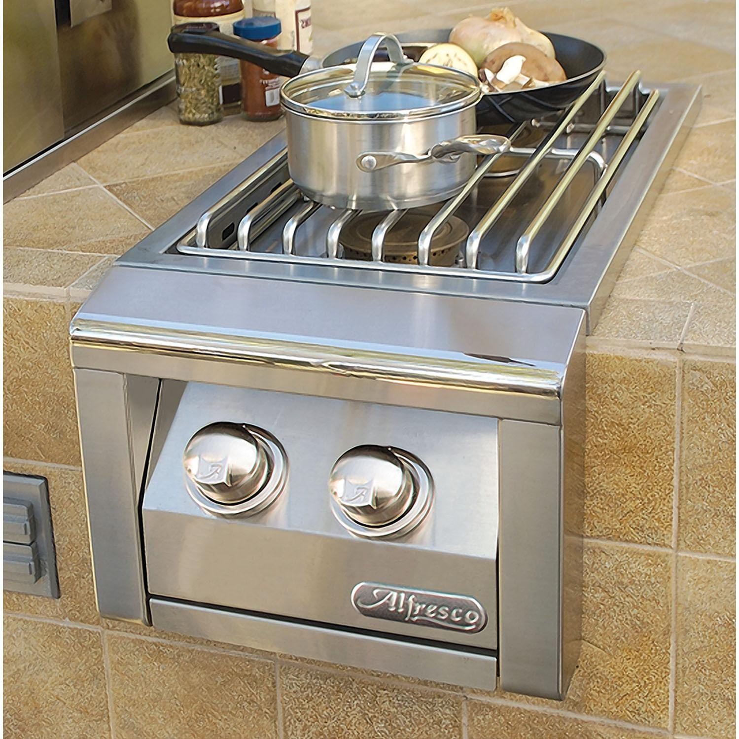 Alfresco Built In Natural Gas Double Side Burner Ab 2 Ng