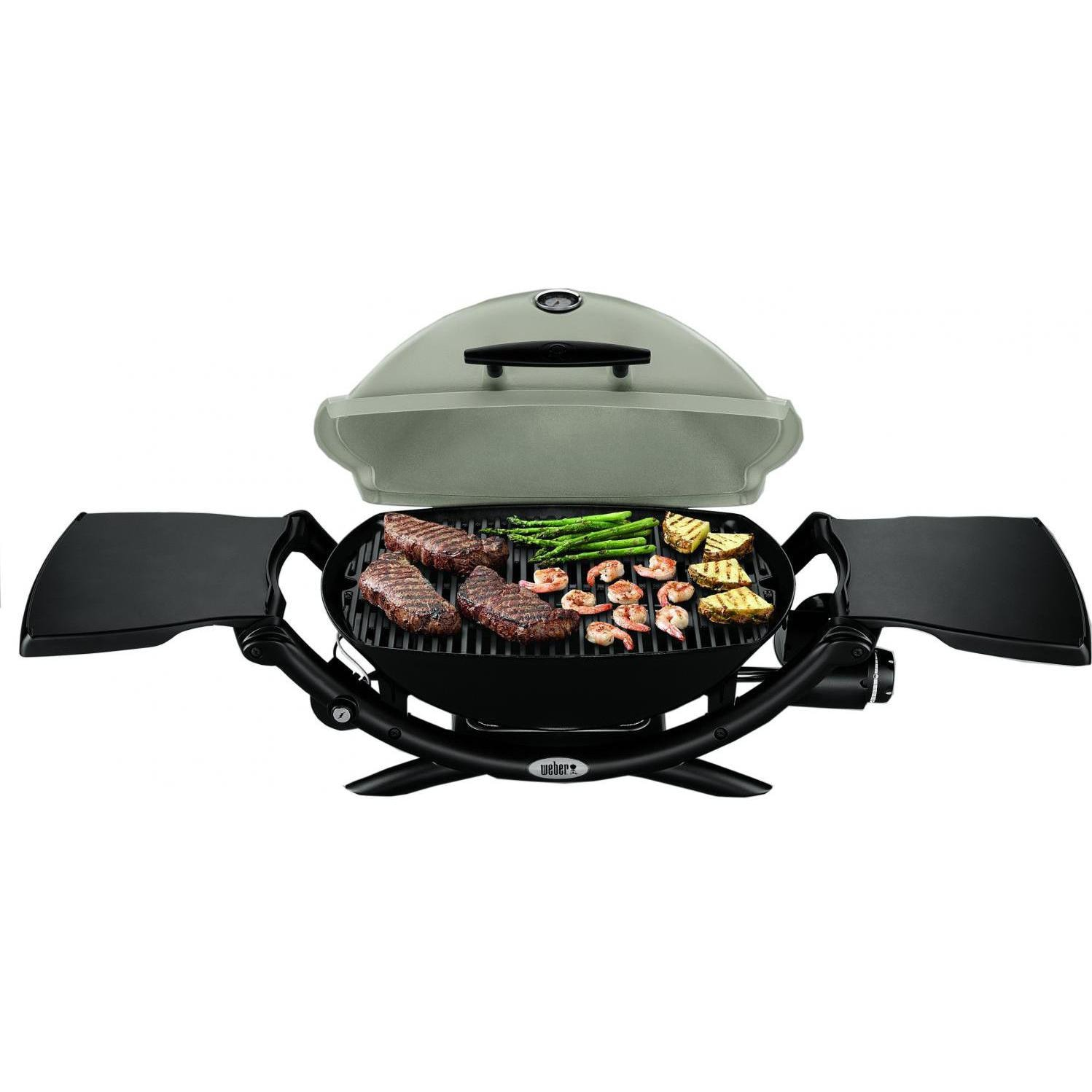weber q 2200 portable propane gas grill titanium bbq guys. Black Bedroom Furniture Sets. Home Design Ideas
