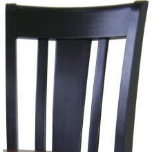 International Concepts Dining Essentials Shaker Styled Dining Set - T57-3048GS S57-102 (4) Chair Back Detail