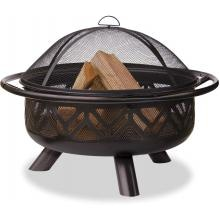UniFlame 32 Inch Oil Rubbed Bronze Firebowl Fire Pit