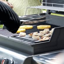 Weber 7566 Porcelain-Enameled Cast Iron Reversible BBQ Griddle For Genesis E & S 300 Series Gas Grills image