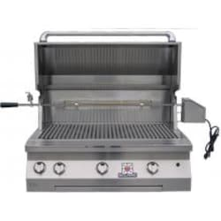 Solaire 36 Inch Built-In InfraVection Natural Gas Grill With Rotisserie - SOL-AGBQ-36VI-NG image