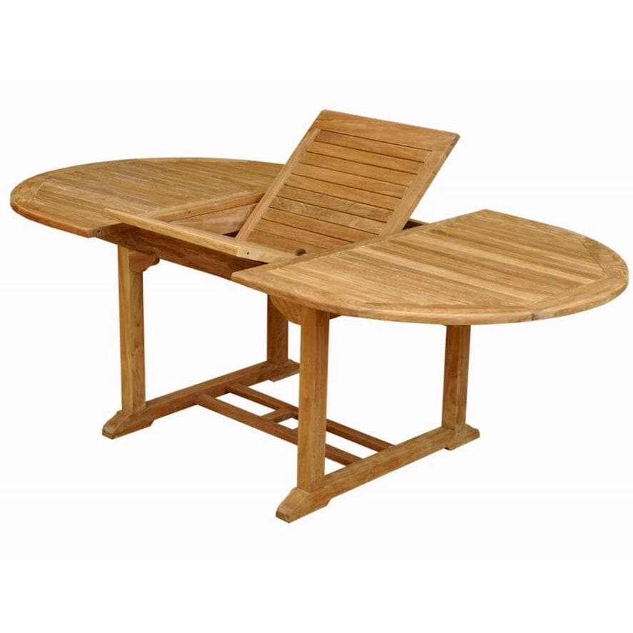 Anderson Teak Bahama 78 X 39 Inch Teak Patio Dining Table   With Extension