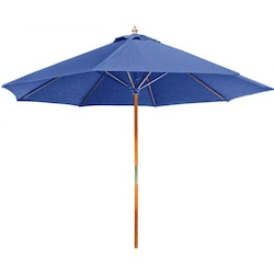 Eagle One 7.75 Ft Wood Patio Umbrella With Pulley Lift - Canvas Pacific Blue