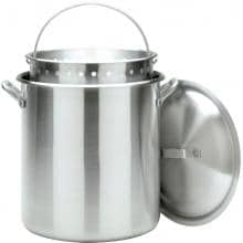 Bayou Classic Pots With Full Sized Basket 100 Quart Aluminum Stock Pot