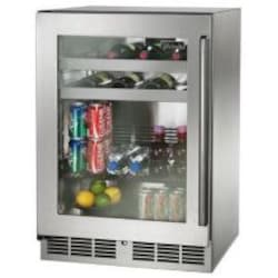 Perlick Signature Series 24-Inch 5.2 Cu. Ft. Left Hinge Outdoor Rated Beverage Center - HP24BO-3-3L image