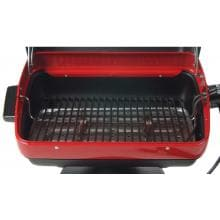Meco Tabletop Electric BBQ Grill - 9300 Porcelain Coated Cooking Grids, Reflector Pan, and Heating Element