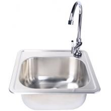 Fire Magic 15 X 15 Outdoor Rated Stainless Steel Sink With Cold Water Faucet image