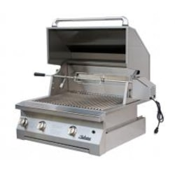 Solaire 30 Inch Built-In All Infrared Natural Gas Grill With Rotisserie - SOL-AGBQ-30IR-NG image