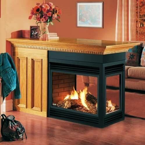 Napoleon BGD40 Direct Vent Natural Gas Peninsula Fireplace ...