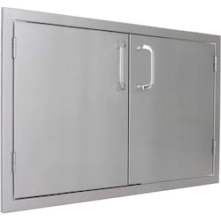 BBQGuys.com Kingston Series 30-Inch Stainless Steel Double Access Door