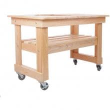 Primo Compact Cypress Table For Oval XL Primo Compact Cypress Table For Oval XL - Angled View