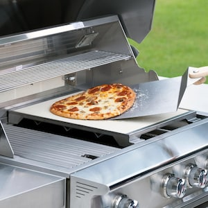 Blaze Professional LUX 15-Inch Ceramic Pizza Stone With Stainless Steel Tray - BLZ-PRO-PZST-2  image
