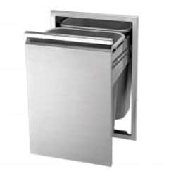 Twin Eagles 18-Inch Roll-Out Stainless Steel Double Trash Drawer / Recycling Bin - TETD182T-B image