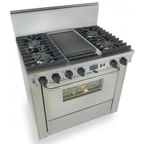 73a9c6cda54 FiveStar 36 Inch Dual-Fuel Convection Range With Sealed Burners And Griddle  - Stainless Steel