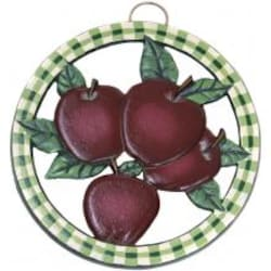 Old Dutch Hand Painted Apple Round Trivet image