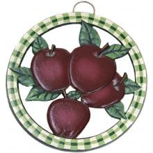 Old Dutch Hand Painted Apple Round Trivet Old Dutch Hand Painted Apple Round Trivet Full View
